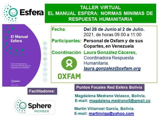 Difus Taller Virt Esfera Oxfam Venezuela Jun 2021